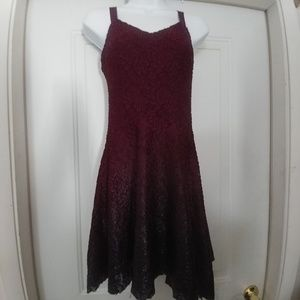 Free People burgundy lacy dress size S